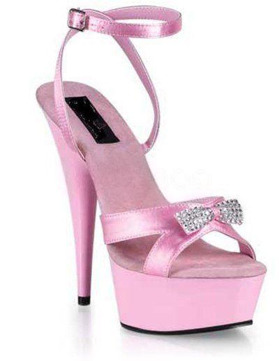 3f645b43b2cb High Heel Pink PU Rhinestone Sexy Platform Sandals