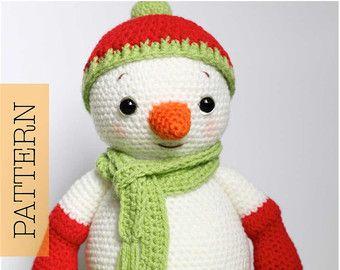 Amigurumi Snowman : Crochet amigurumi puppy dog pattern only jack pup pdf stuffed