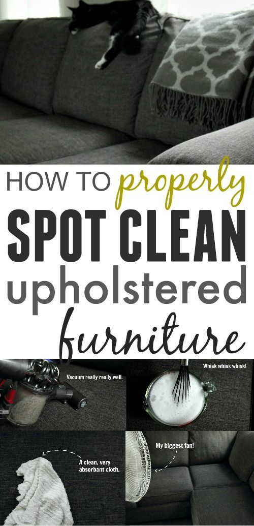how to properly clean your upsholstery cleaning pinterest rh pinterest com