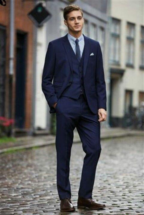 blue suit black tie - Google Search | A cholon | Pinterest | Mens ...