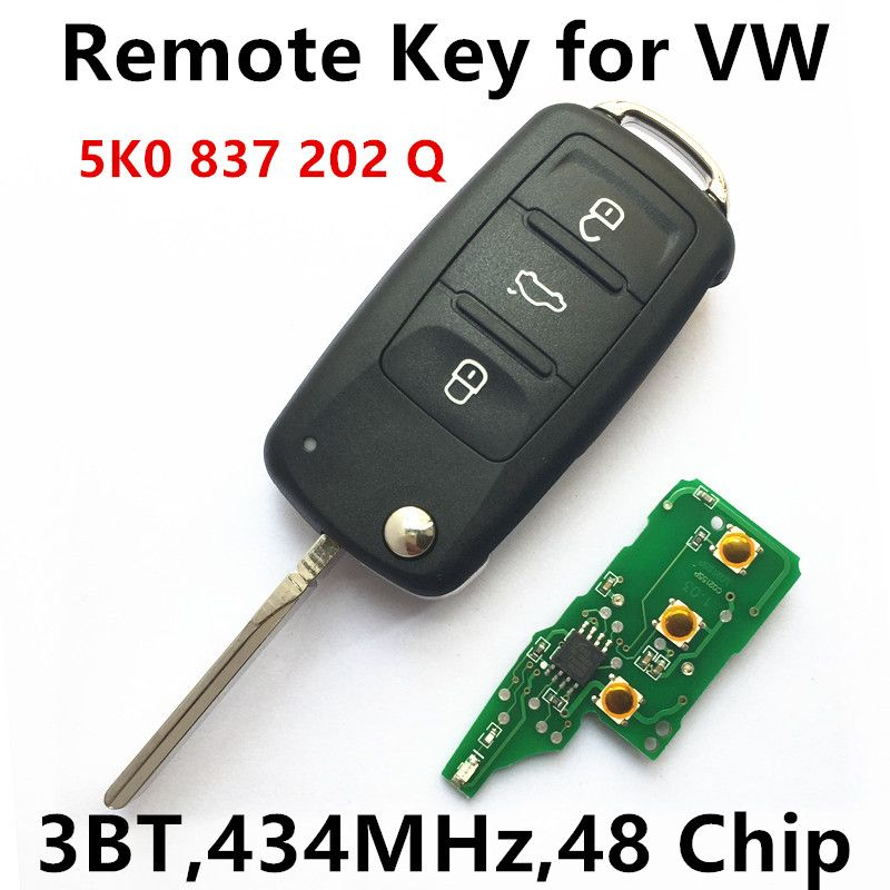 Remote Key For Vw Volkswagen Caddy Golf Eos Tiguan Polo Jetta Beetle Car Key Vehicle Remote 5k0 837 202 Q 5k0837202q Beetle Car Volkswagen Caddy Vw Volkswagen