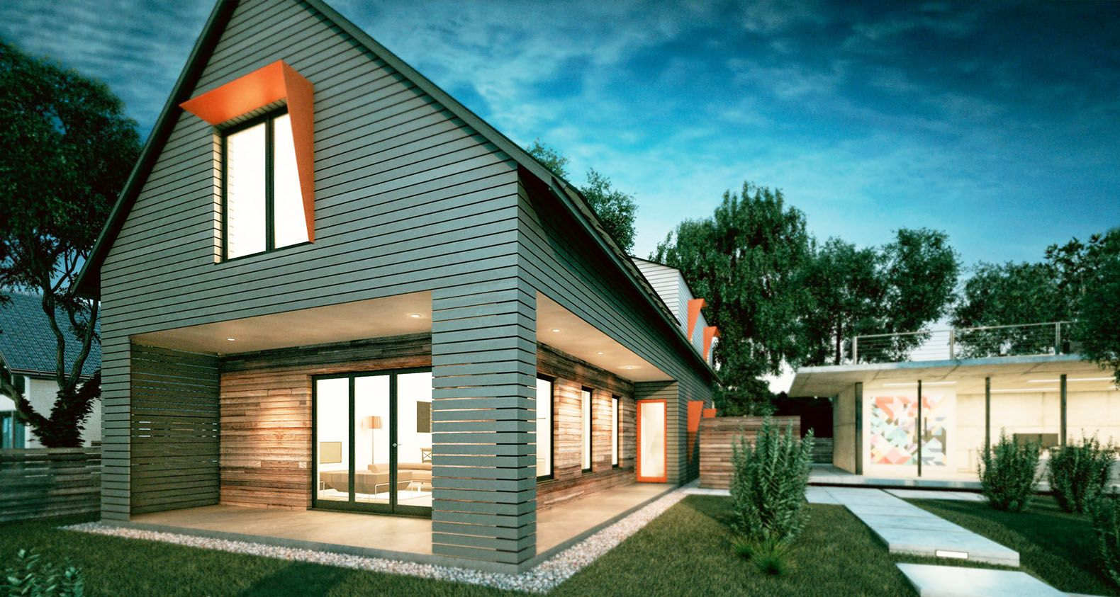 Acre Design S Automated Axiom House Is An Affordable Zero Energy Home Ecological House Energy Efficient Homes House Design