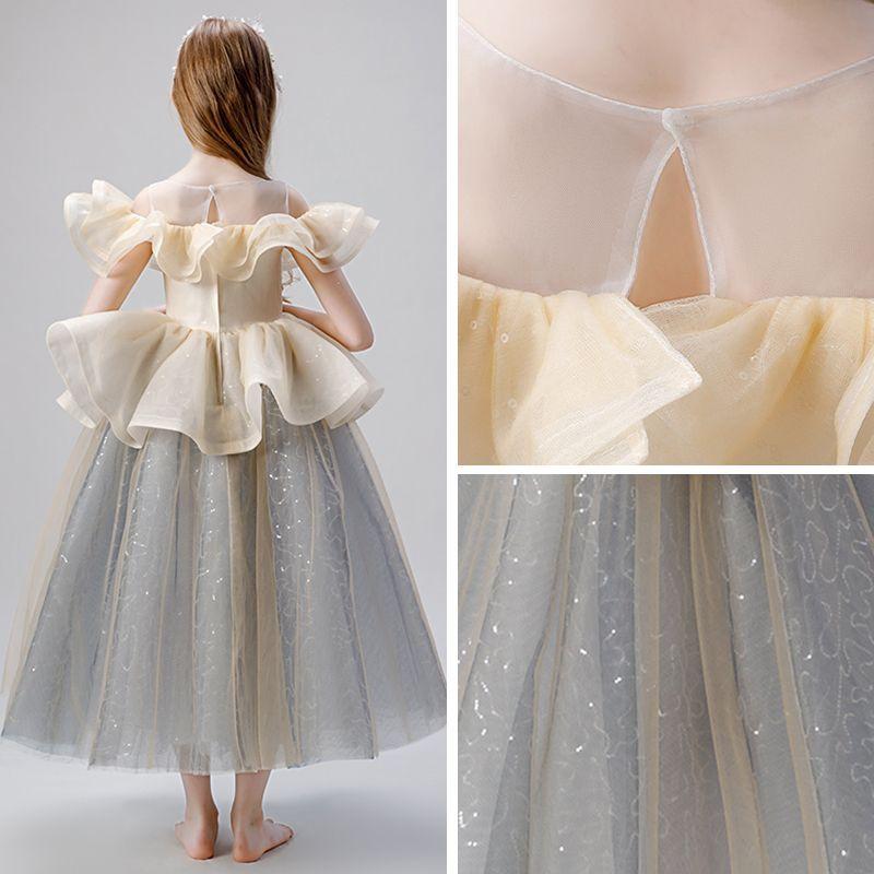Champagne Sequin Dress   DressedUpGirl.com