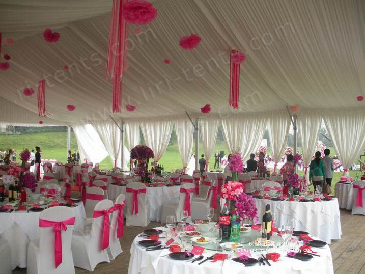 wedding tent decor | Liri 20x20m Outdoor Wedding Tent Like : decorated tents for parties - memphite.com