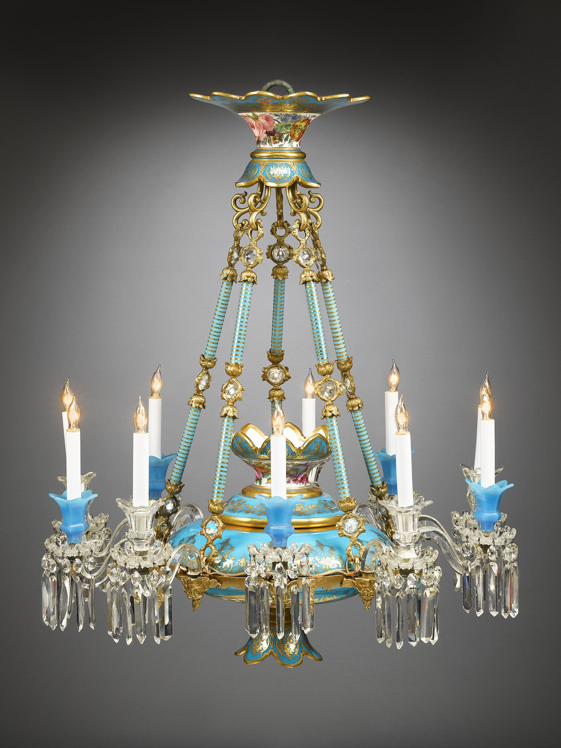 Chandelier by baccarat features opaline glass cut crystal and chandelier by baccarat features opaline glass cut crystal and ornate dor bronze this highly ornate aloadofball Choice Image