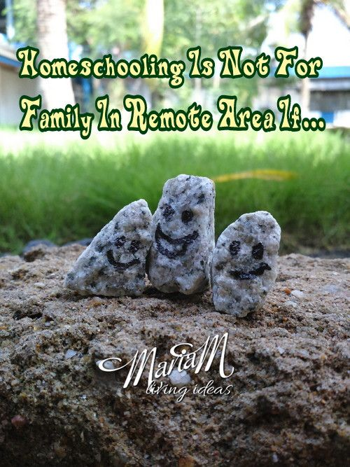 Homeschooling Is Not For People In Remote Area, If...