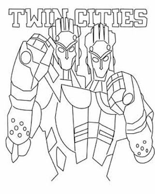 Robot Real Steel Twin Cities Coloring Page 320