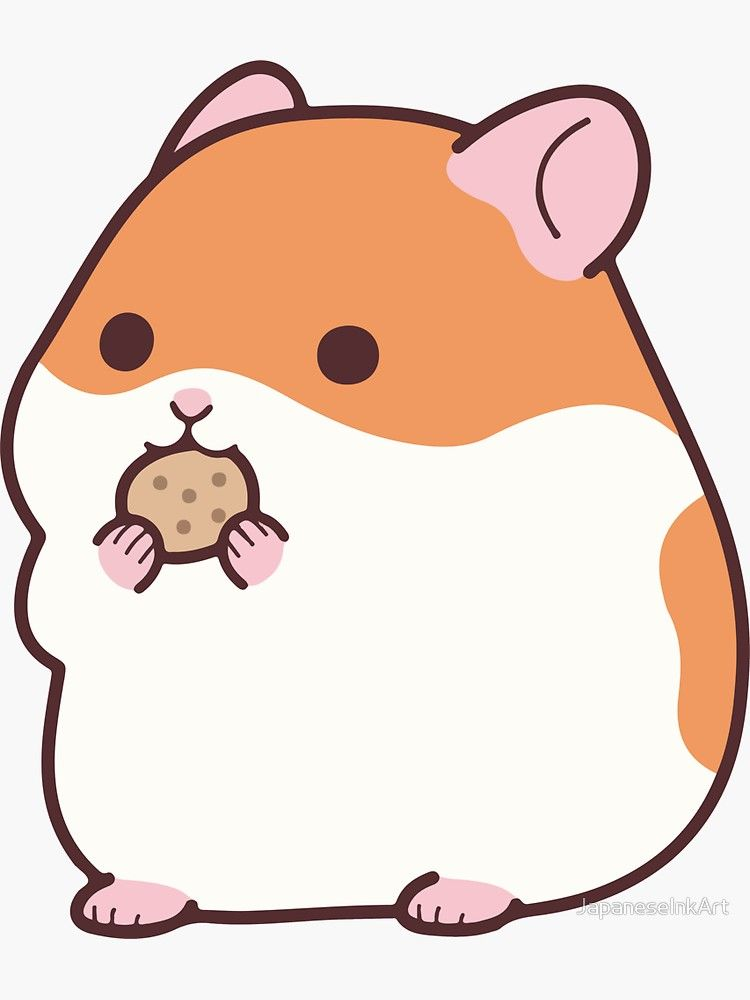 Cute Hamster Emoji Funny Novelty Tee Sticker By Japaneseinkart Cute Little Drawings Cute Cartoon Drawings Cute Hamsters