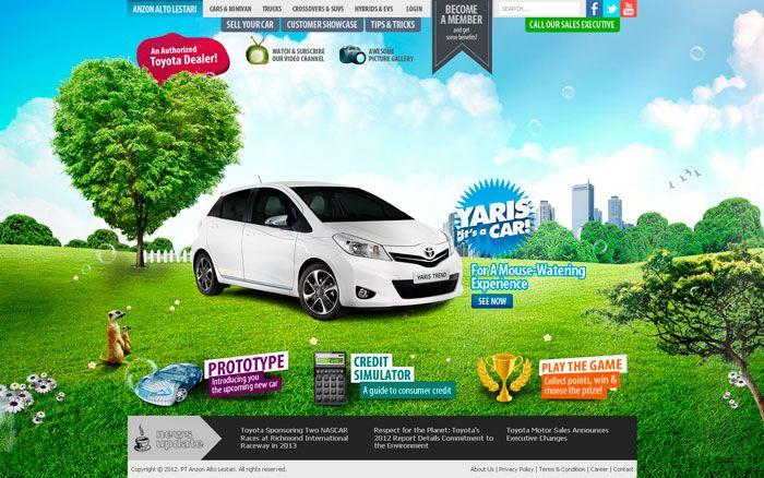 Web Design Anzon Toyota Dealer