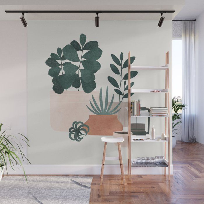 Coffee & Plants X The Sill Wall Mural by Madeline