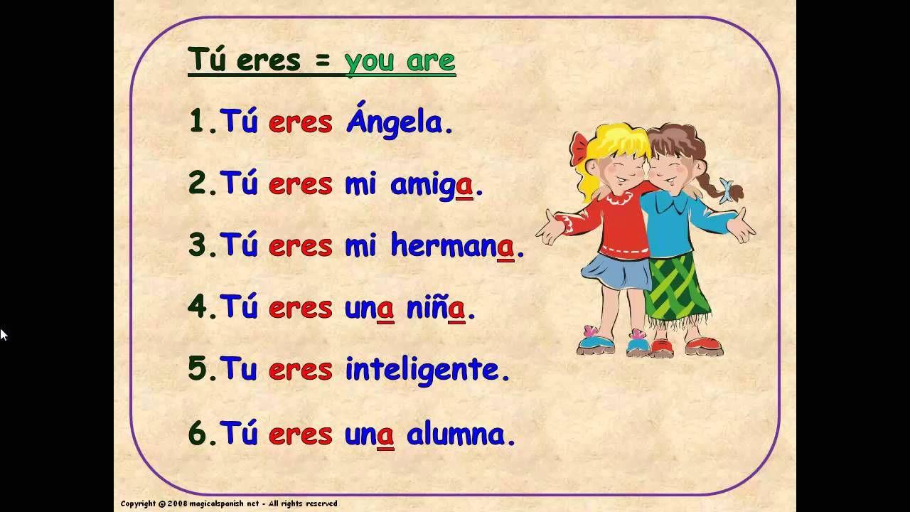 5 To Be Verb In Spanish El Verbo Ser En Espanol Spanish Verb Pronoun [ 720 x 1280 Pixel ]