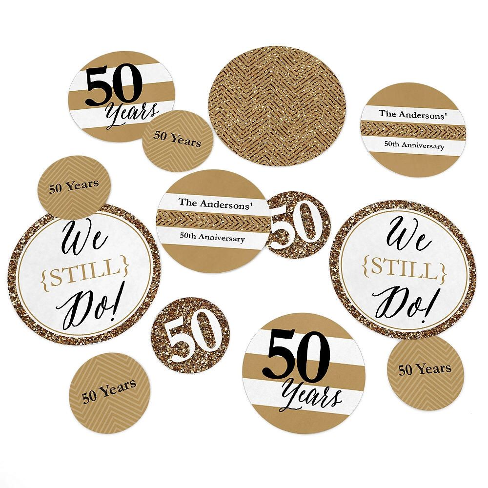 50th Wedding Anniversary - Giant Circle Confetti - Anniversary Party ...