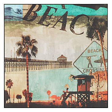 Infuse a little bit of the beach into your home with our Beach Culture canvas.