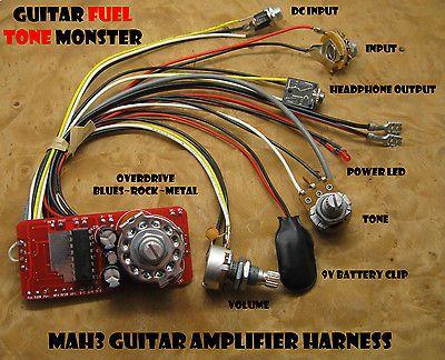 Strange Tone Monster Mah3 Guitar Amp Kit 3W Volume Tone Overdrive Hdph 4 Wiring 101 Picalhutpaaxxcnl