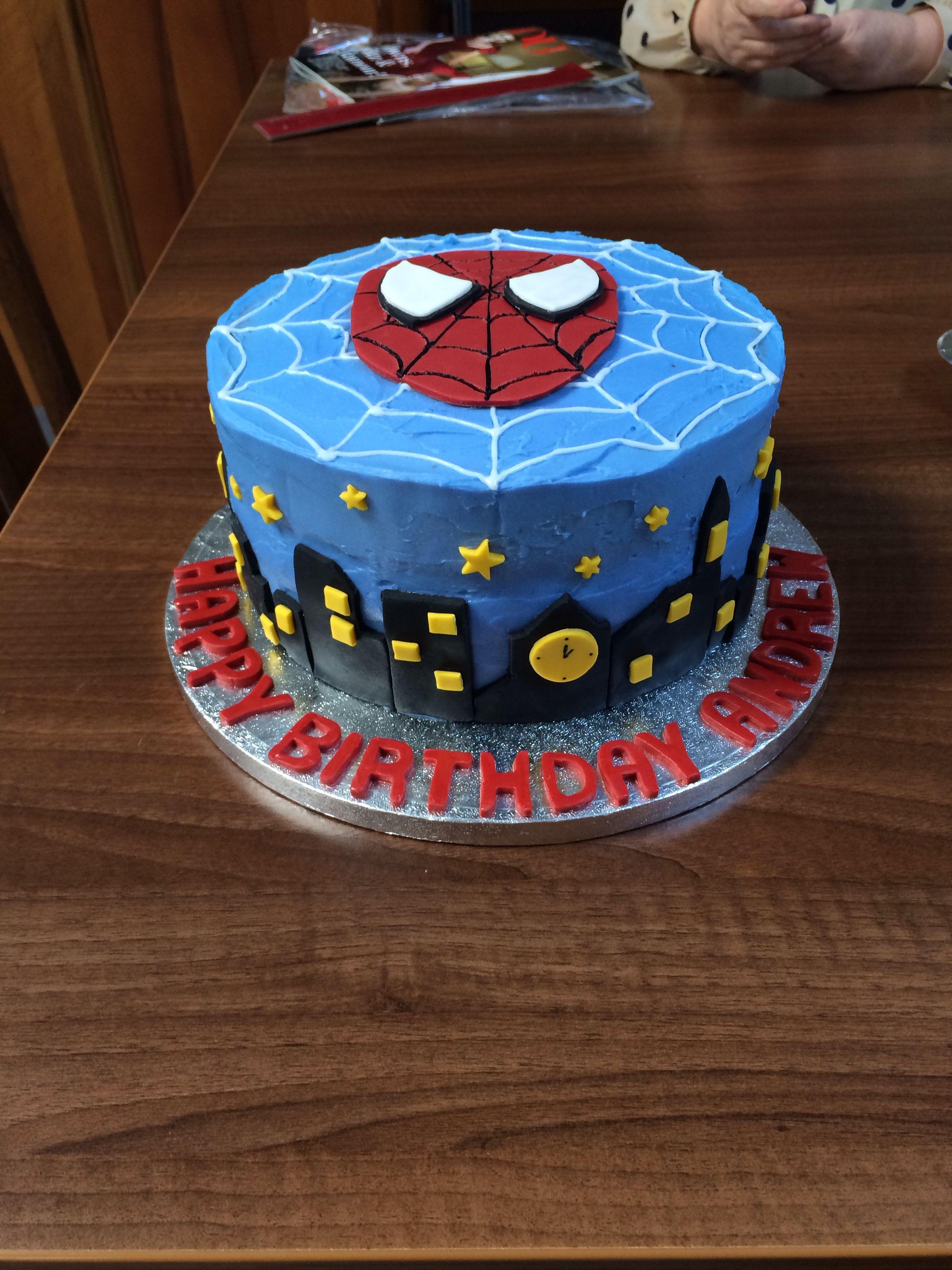 Spider Man Choc Fudge Cake With Buttercream Fondant Cakes