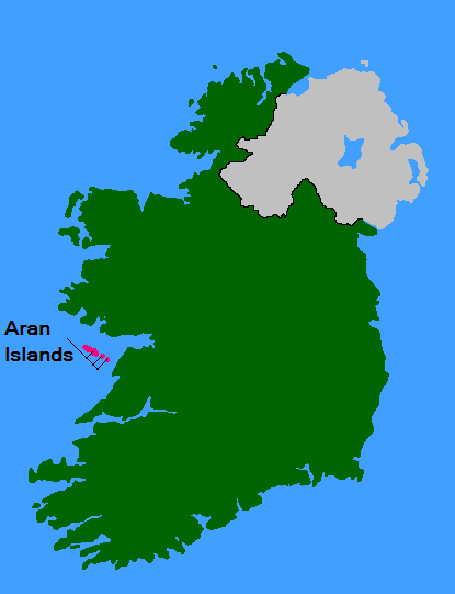 Map Of Ireland With Islands.Aran Islands Wikipedia The Free Encyclopedia Aran Aran