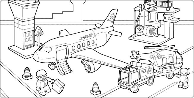 coloring pages of airport Google