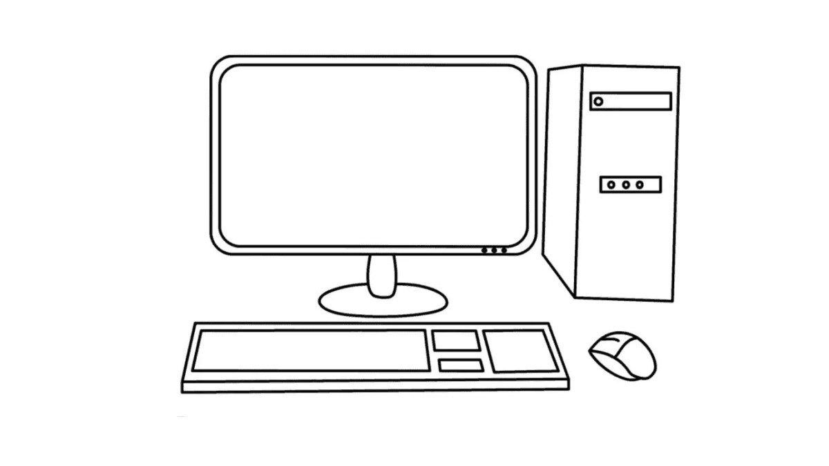 How To Draw A Computer Easy Full Video Tutorial In 2021 Computer Drawing Drawing For Kids Videos Tutorial