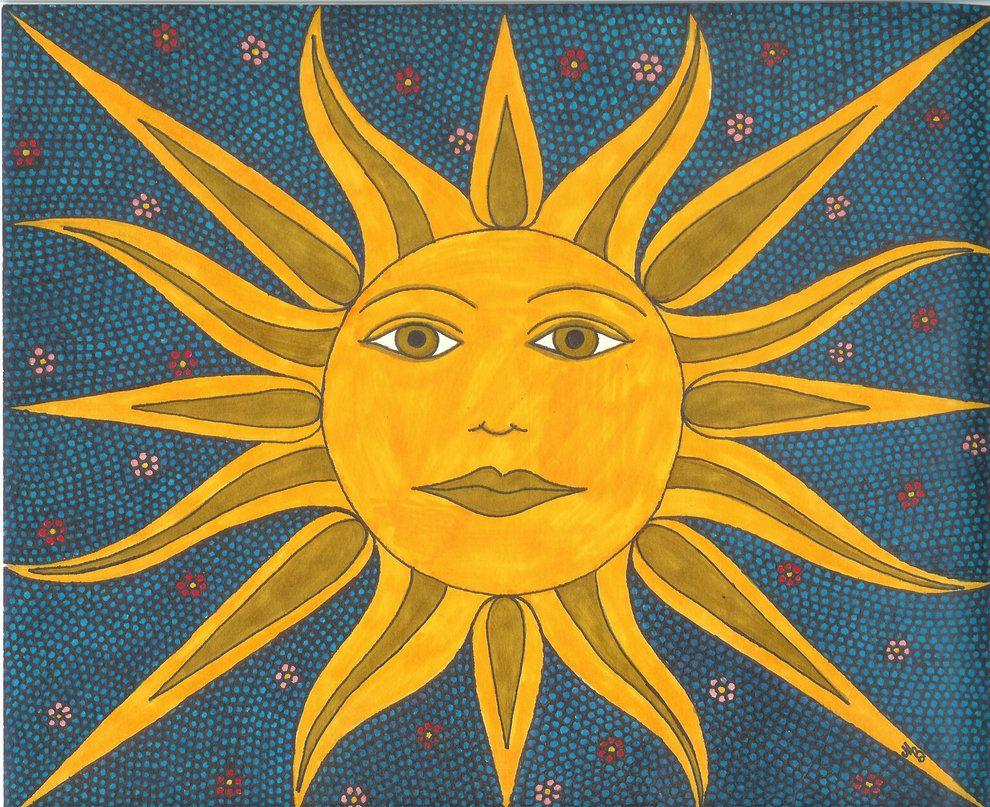 Открытку, картинки с изображением солнца звезд луны