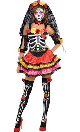 Adults Skeleton Fancy Dress Costume Mens Ladies Halloween Outfit Accessories