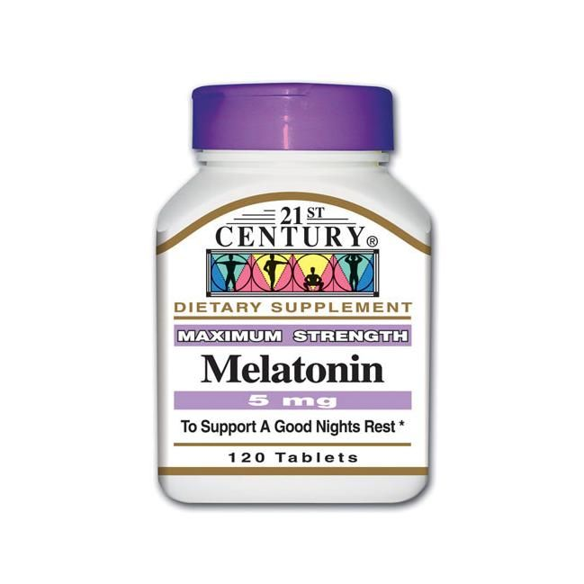 21st Century Maximum Strength Melatonin 5 Mg 120 Tabs Sleep