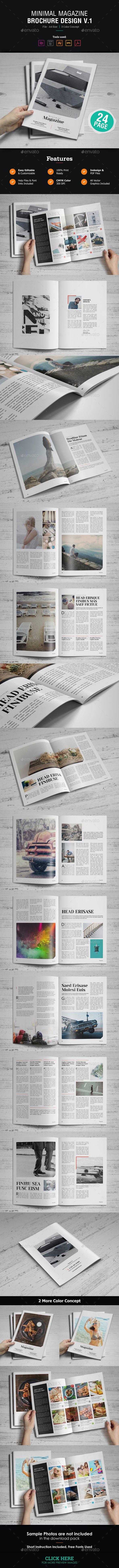 Minimal Magazine Design | Minimal, Magazines and Template