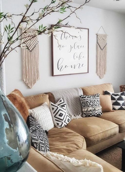 Small Boho Living Room: Living Room Is Where Boho, Global, Industrial And