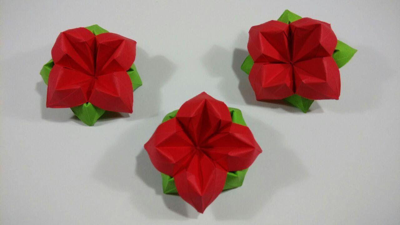 How To Make An Easy Origami Flower Pinterest Easy