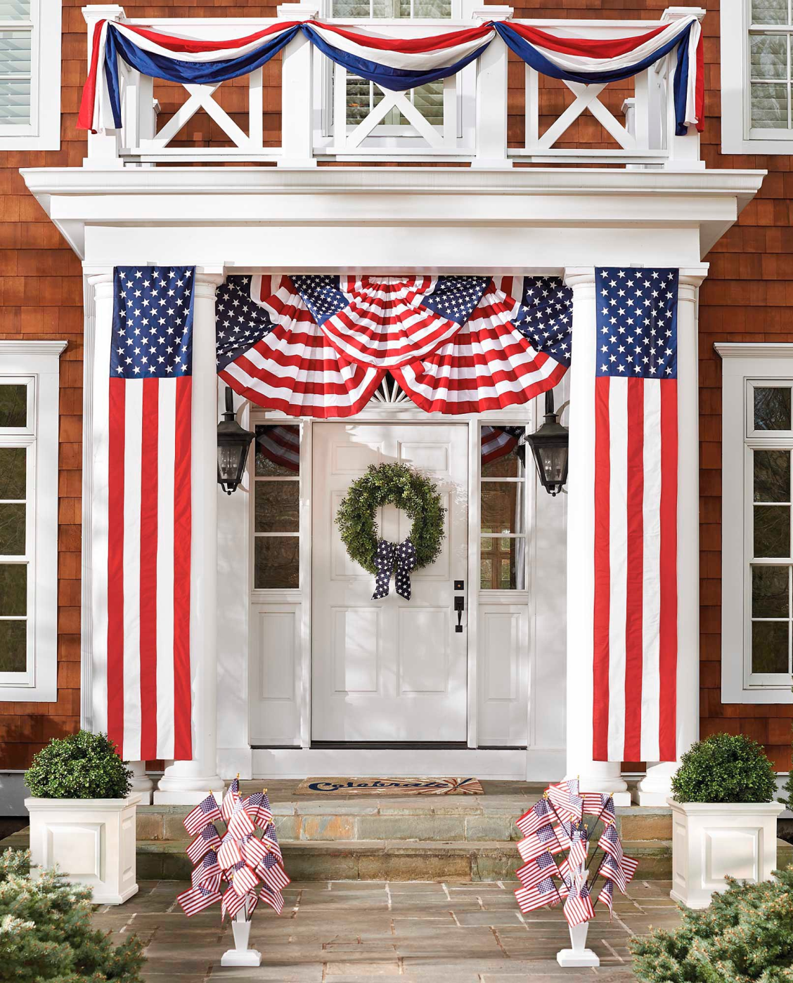 Patriotic Swag Bunting Collection Grandin Road Fourth Of July Decor 4th Of July Decorations Patriotic Decorations