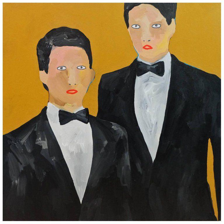 Alan Fears The Hopefuls Portrait Painting Pop Art Bowties