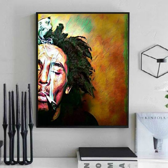 Bob Marley Wall Art Lisa Jaye Art Designs Bob Marley Art Bob Marley Artwork Bob Marley Painting