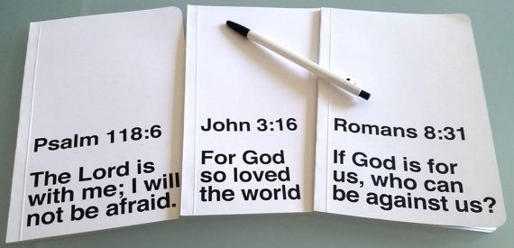 Custom Bible Study Notebook, Original Handmade Large Journal