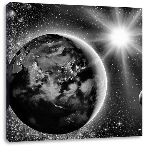 East Urban Home Earth In Outer Space Art Print On Canvas