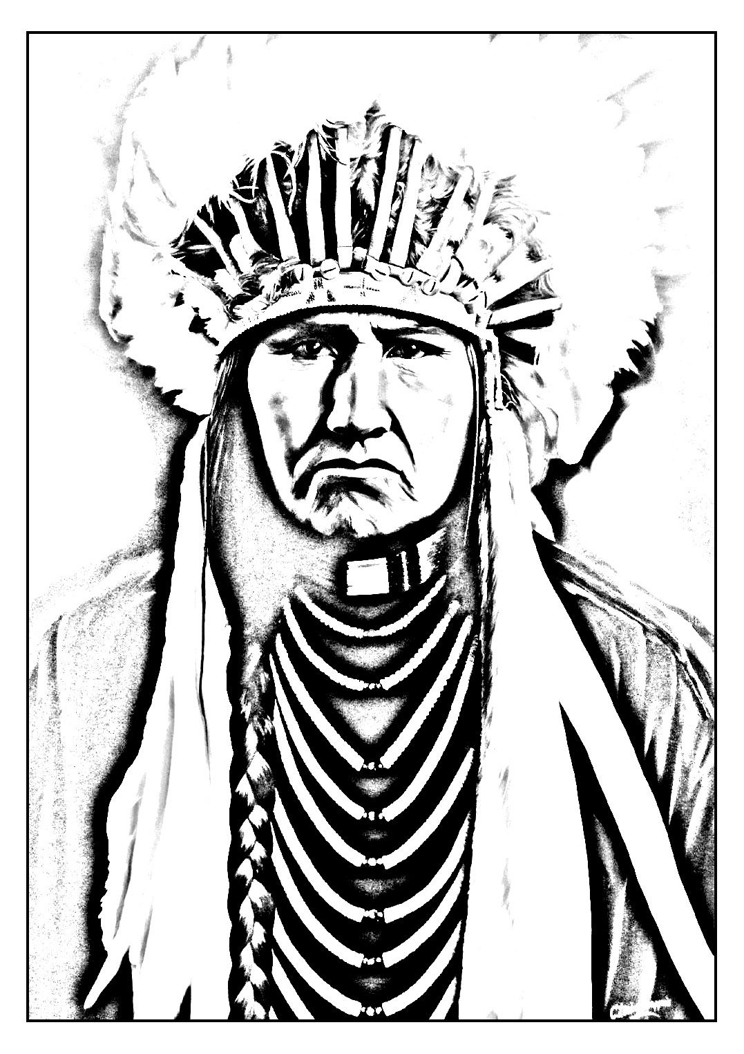 Indian Tribal Coloring Pages. Free coloring page adult native american indian  Coloring picture of