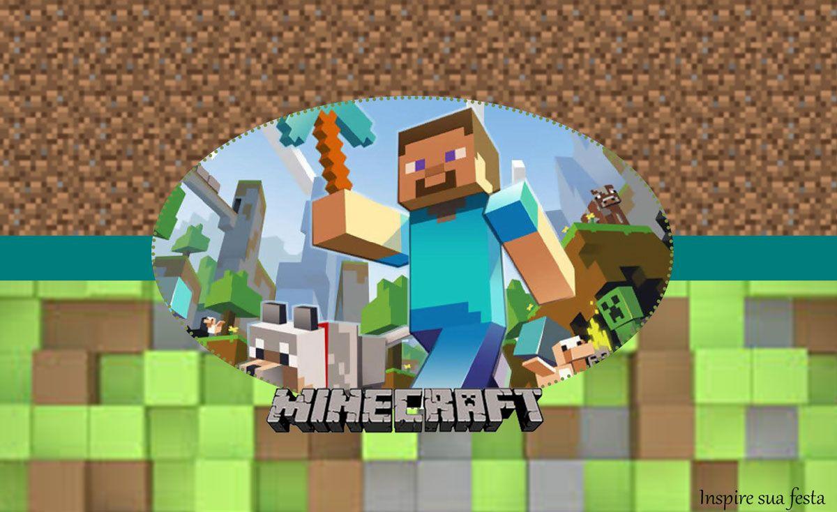 Letras Minegraft Fazendo A Nossa Festa: Fiesta De Minecraft: Etiquetas Para Candy Buffet Para