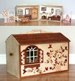 Barbie Dollhouse 2 rooms Woodworking Plan