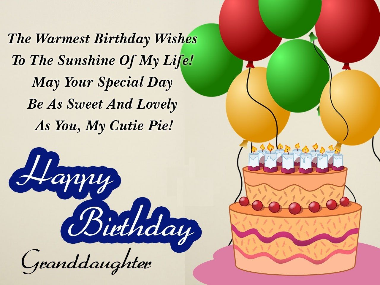 Birthday Wishes For Granddaughter Happy Sweet Messages Message