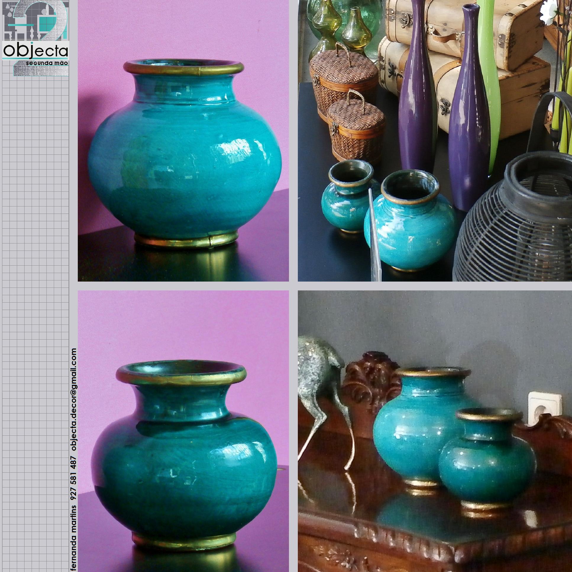JARRAS MARROQUINAS (par), artesanais em porcelana marroquina (Marraquexe) debruadas a latão e com assinatura do artesão......QUAL A SUA OPINIÃO sobre estas nossas peças? (disponíveis)  https://www.facebook.com/objecta.segunda.mao/