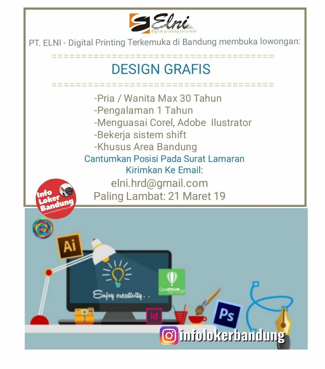 Lowongan Kerja Design Grafis Pt Elni Bandung Maret 2019 Grafis