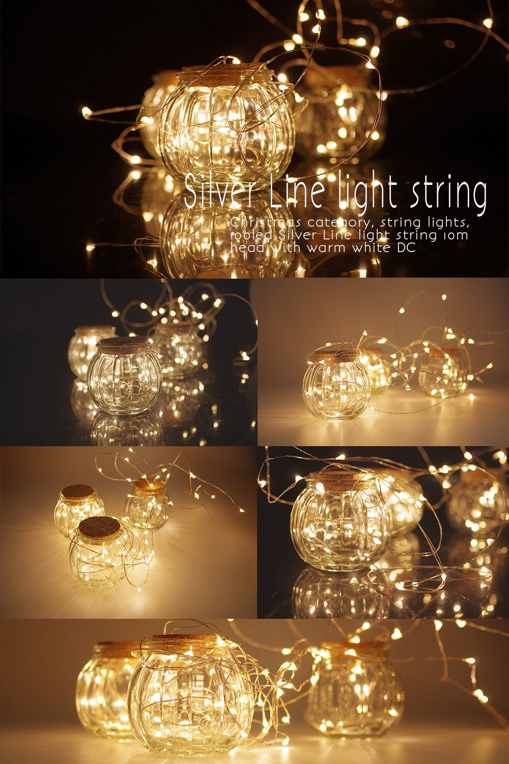 Solar Line Lights Part - 34: Solar Led String Lights For Wedding ,party .Very Cute Fairy Light To Help  You