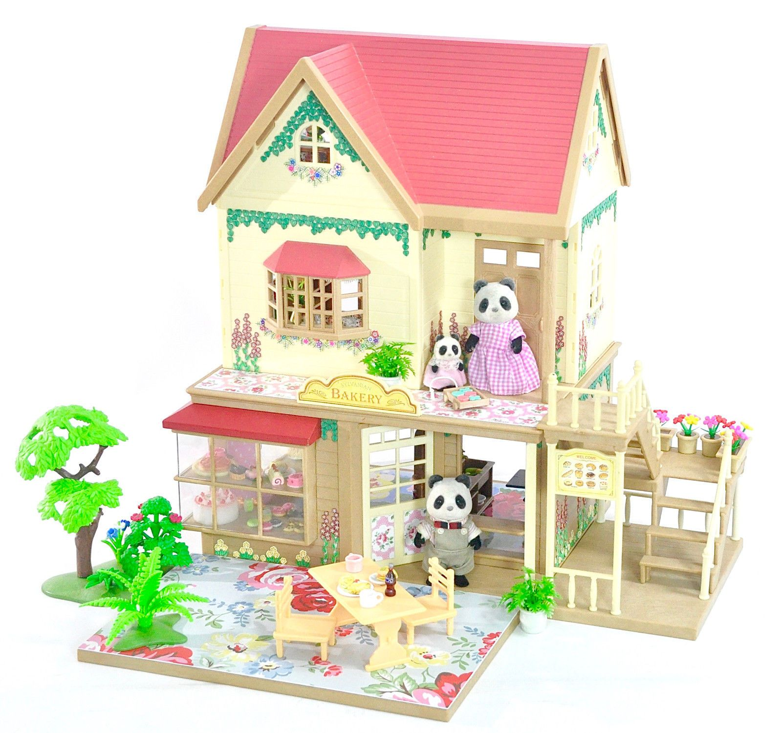 Fistuff sylvanian families decorated house vintage bakery figures lots ebay