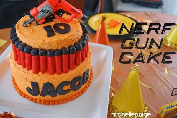 Nerf Gun Party Nerf cake Nerf party and Birthday party ideas