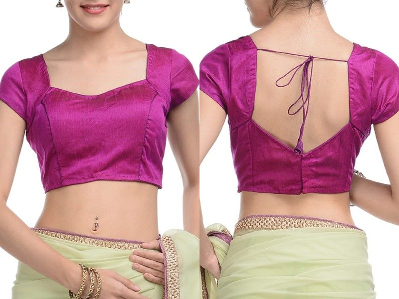 11 Normal Blouse Neck Designs For Simple Saree Style Blouse