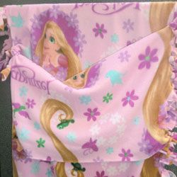 e525f94761 Fleece Sleeping Bag - Make a no sew fleece tie sleeping bag. Easy ...