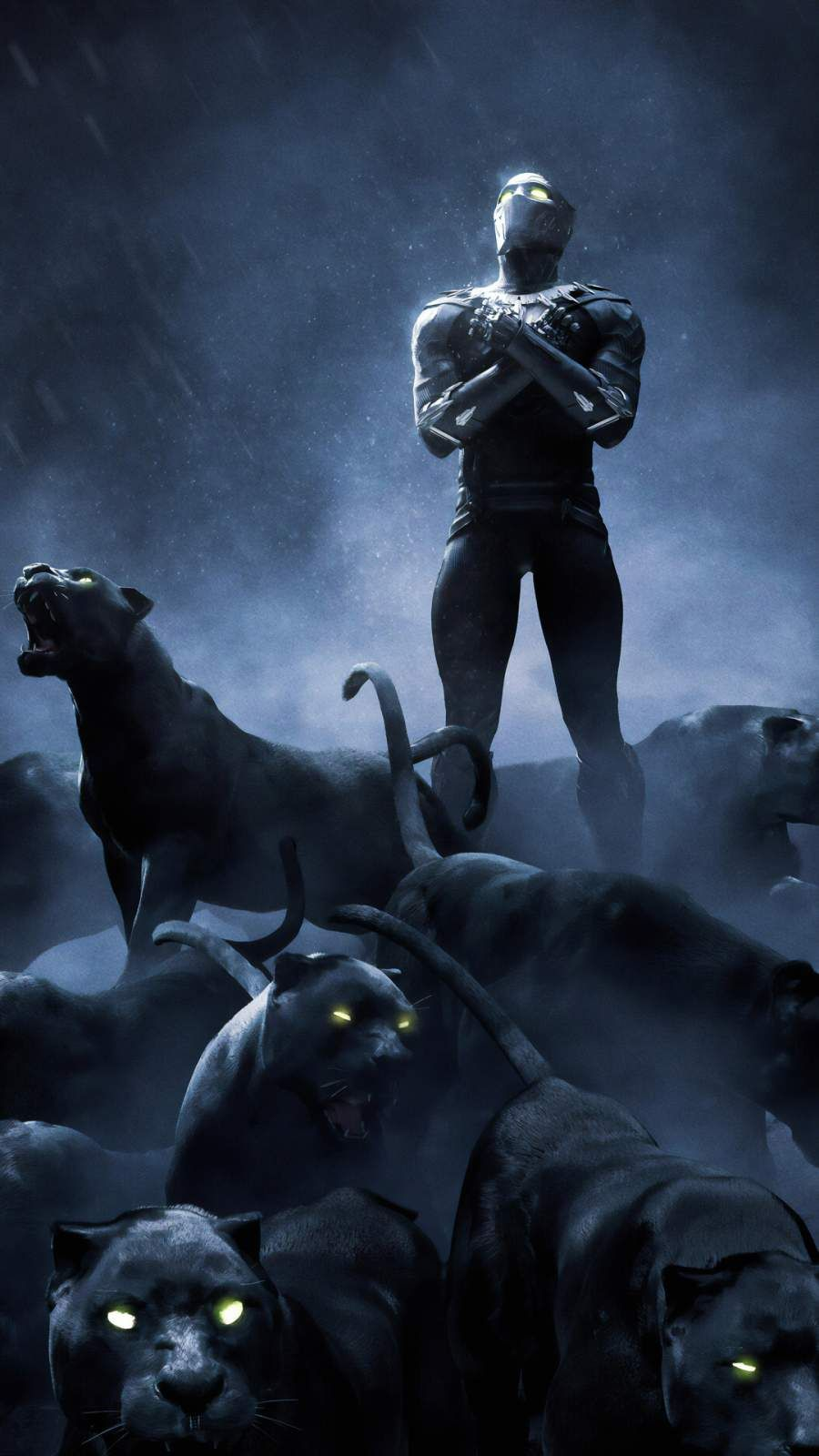 Black Panther Rise up iPhone Wallpaper from iphoneswallpapers.com