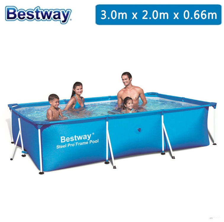 """129.26$  Buy now - http://alik9n.worldwells.pw/go.php?t=32746799139 - """"56404 BestWay 118""""""""x79""""""""x26""""""""/300*201*66cm 3300L Deluxe Splash Frame Pool for adult & children(NO any accessary)/Old 56043 Pool"""""""