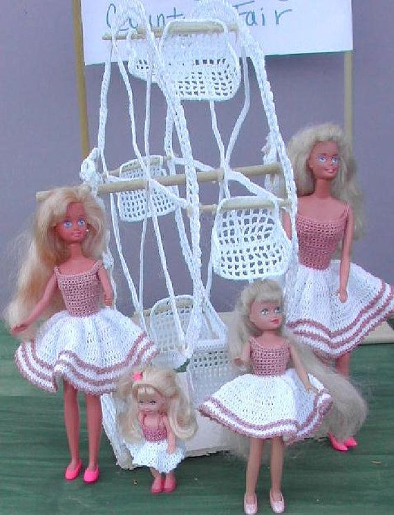 Crochet Fashion Doll Barbie & Sisters Pattern- #272 SISTERS on the ...