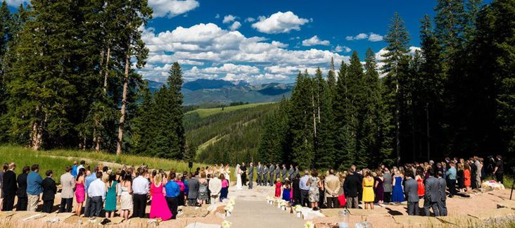 Summer Wedding On The Beaver Creek Deck Colorado What A View Www Idoweddingservices Vail Pinterest
