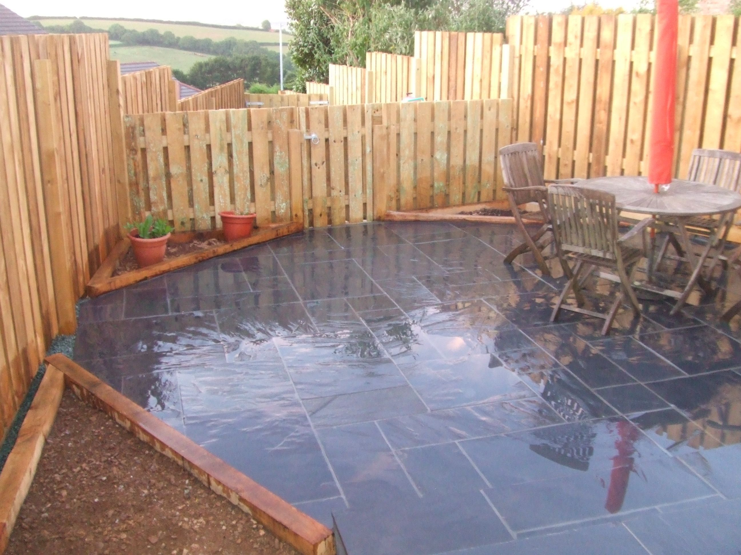 Delightful This Low Maintenance Garden Makes Great Use Of Our #slate #paving Slabs To  Introduce