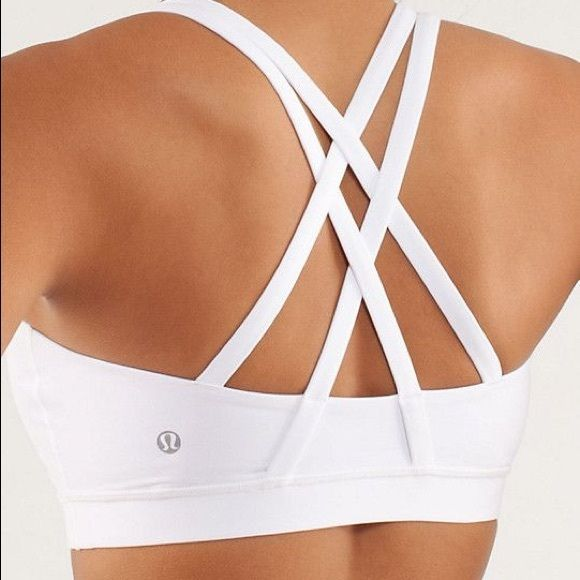 Lululemon Energy Bra in White Lululemon Energy Bra in White. Size 6. EUC lululemon athletica Tops